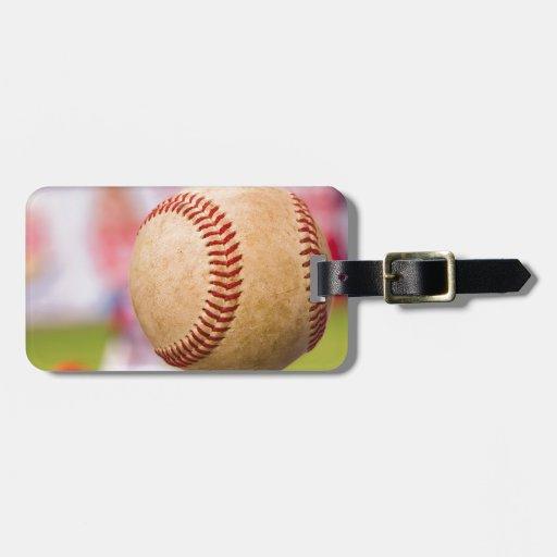 Lançamento do basebol etiquetas para malas de viagem