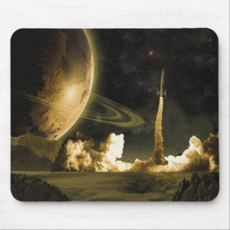 Lançamento do espaço do vintage mouse pad