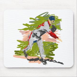 Lançamento do jarro do basebol mouse pads
