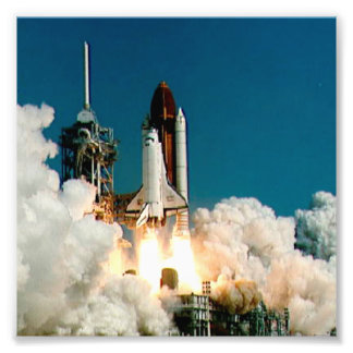 Lançamento do vaivém espacial da NASA, ataque aére Impressão De Foto