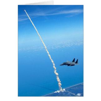Lançamento final do vaivém espacial Atlantis - em Cartão Comemorativo