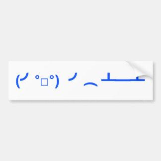 Lançando o Emoticon Meme das mesas Adesivo Para Carro