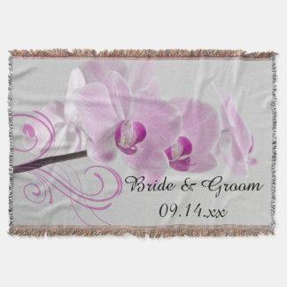 Lance cor-de-rosa do casamento da elegância da coberta