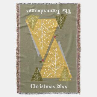 Lance do Natal, árvores de Natal Throw Blanket