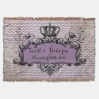 Lance real da coroa do casamento feito sob manta