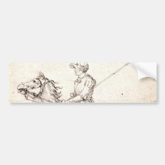 Lanceiro a cavalo por Albrecht Durer Adesivo