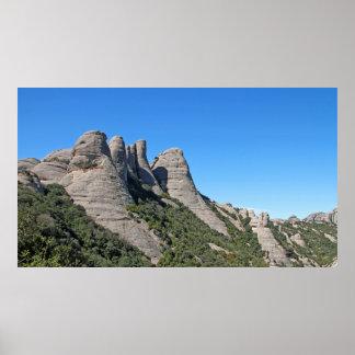 Landscape of Montserrat Poster