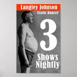 Langley Johnson, dançarino exótico Impressão