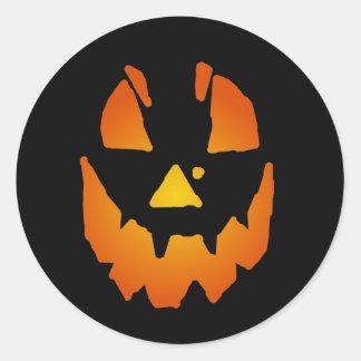 Lanterna do Dia das Bruxas Jack O Adesivo Redondo