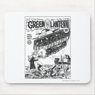 Lanterna verde nas trincheiras, preto e branco mousepad