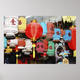 Lanternas chinesas em China Pôsteres