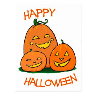 Lanternas felizes do o do Dia das Bruxas Jack Cartão Postal