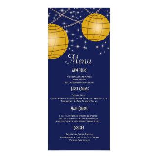 Lanternas festivas com amarelo azul escuro & convite personalizado