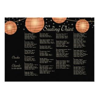 Lanternas festivas com preto Pastel & abricó Convite Personalizado