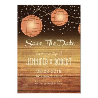 Lanternas festivas com Woodpanels Convite