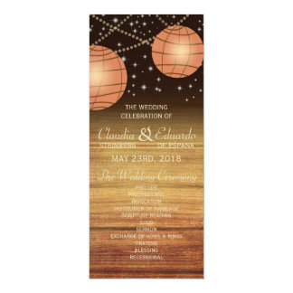 Lanternas festivas com Woodpanels Convite Personalizado