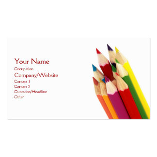 Lápis coloridos modelos cartões de visitas