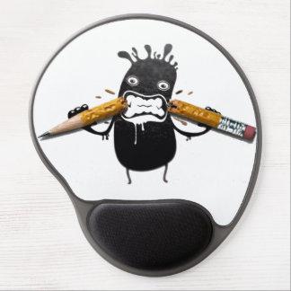lápis engraçados dos trabalhos de arte do humor 3d mouse pad de gel