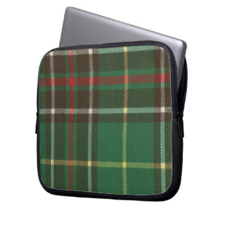 Laptop Zippered neopreno Sleev do Tartan de Terra  Capa De Notebook