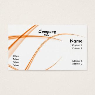 Laranja abstrata cartão de visitas