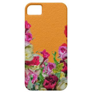 Laranja abstrata floral bonita capa para iPhone 5