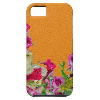 Laranja abstrata floral bonita capa tough para iPhone 5
