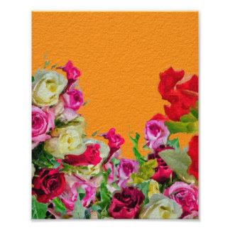 Laranja abstrata floral bonita impressão de foto