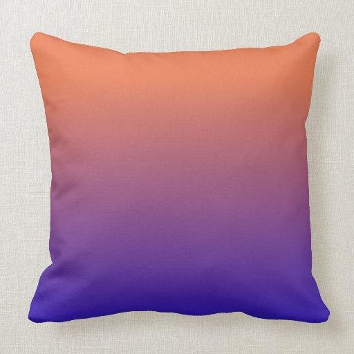 Laranja ao teste padrão azul do inclinação travesseiros