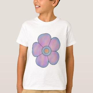 Laranja azul 5 da flor camiseta