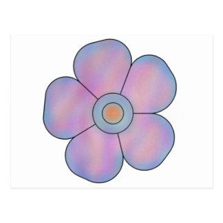 Laranja azul 5 da flor cartão postal