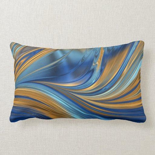 Laranja azul travesseiro