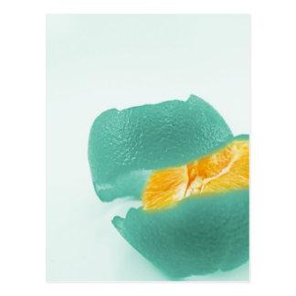 laranja azul cartão postal