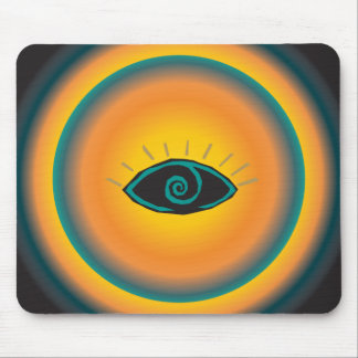 Laranja azul de vista antiga do design tribal do o mouse pad