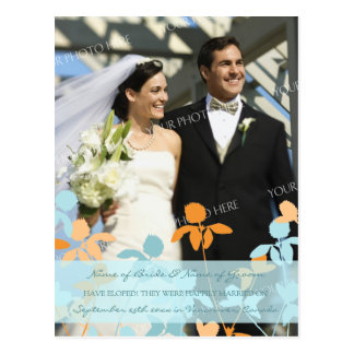 Laranja azul dos cartão da foto do anúncio do Elop Cartão Postal