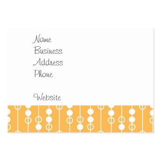 Laranja bonita e teste padrão de suspensão branco cartão de visita grande