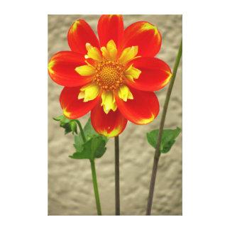 Laranja bonita para amarelar a flor impressão em tela