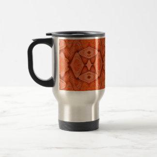 laranja bonito caneca térmica