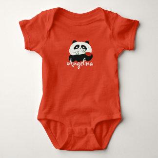 Laranja bonito engraçada do bebé da flor dos t-shirt
