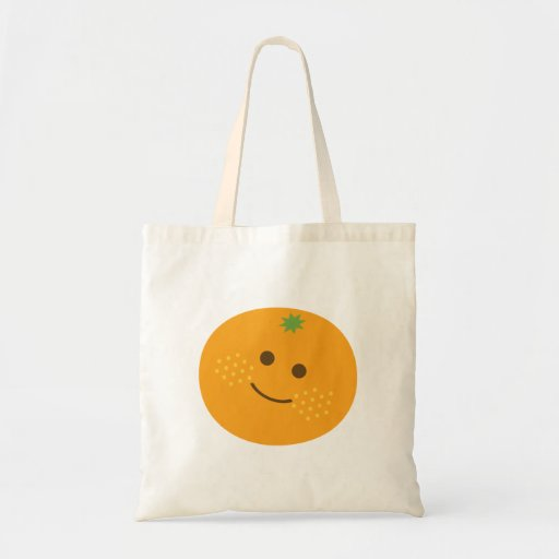 Laranja bonito bolsa para compra