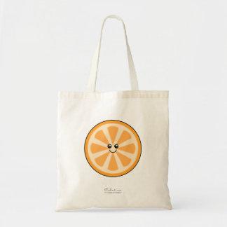 Laranja bonito bolsa de lona