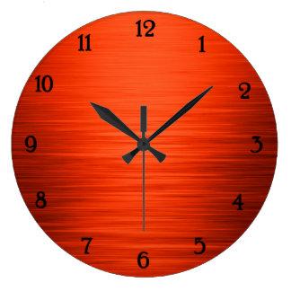 Laranja brilhante elegante pulso de disparo de relógios para paredes