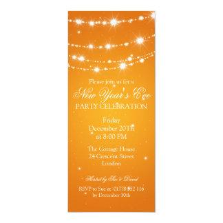 "Laranja Chain Sparkling elegante da véspera de ano Convite 10.16"" X 23.49cm"