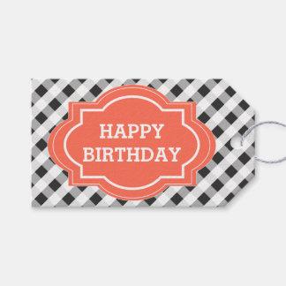 Laranja cinzenta elegante feliz aniversario