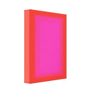 Laranja cor-de-rosa do retângulo impressão de canvas esticada