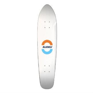 Laranja de Njoku/marinho/Skateboard. azul do Shape De Skate 18,7cm
