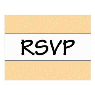 Laranja de RSVP Cartão Postal