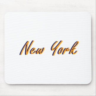 Laranja e azul da Nova Iorque Mousepads