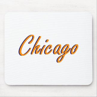 Laranja e azul de Chicago Mousepad