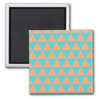 laranja e azul do teste padrão do triângulo imã