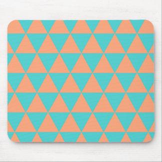 laranja e azul do teste padrão do triângulo mouse pads